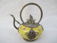 ancient china dragon - Silver dragon monkey cover glass ceramic teapot in ancient China QA