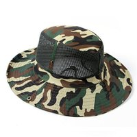 Wholesale Fashion Camouflage Military Hat With Wide Brim Boonie Sun Fishing Bucket Camping Hunting Hat