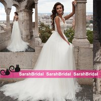 beaded western belts - Milla Nova Wedding Dresses for Western Styling Bohemian Brides Sale Cheap Tulle Bridal Gowns with Beaded Belt Long Vestidos De Novia