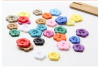 Wholesale mm Mixed Holes Resin Flower Sewing Buttons Scrapbooking