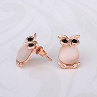 owl earrings - New Arrival Fashion Jewelry Romacci Animal Modelling Shinning Rose Gold Elegant Owl Earrings for Women Girls