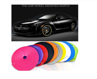 auto plastic beauty - 8M New Car Styling Auto Accessories Car Wheel Rim Wheel Ring Tire WheelProtector Fashion and Beauty Wheel Rims Protector