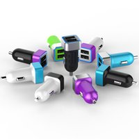 Wholesale Universal V2 A dual USB Car Charger Adapter Car Adapter for iPhone S S iPad Samsung Galaxy s4 S6