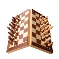 Wholesale Big size jumbo standard educational folding portable international wooden Magnetic chess set with chess board chess pieces