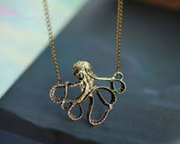 copper alloy - mix order Special Vintage Copper Octopods Necklace Cool Fashion Alloy Necklace