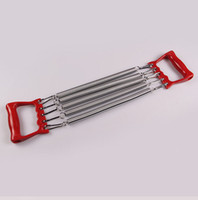exercise hand grip - Spring Cable Chest Pull Pulling Force Exercise Springs Resistance Band Chest Expander Fitness Body Slimming