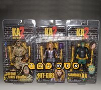 Wholesale 3pcs set Kick Ass Hit Girl Colonel Stars Armored KA PVC Action Figure Collectible Toys tt19429681194 hql