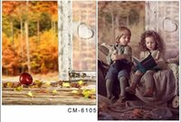 autumn harvest - Custom X7FT Autumn Window Harvest Natural Scenic Photography Baby Background For Photo Studio Muslin Computer Printed Backdrop