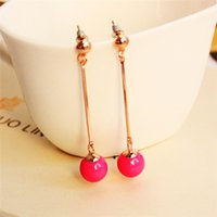 beauty sphere - Korean fashion temperament lady candy colors Sphere earring pendant love jewelry beauty