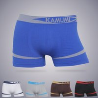 Wholesale Men Boxer Briefs New Fashion Men Boxer Briefs Comfortable Seamless Boxer Shorts Low waist Mens Underwear Healthy Sexy Boxer