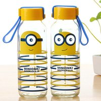 Wholesale Tritan Water Bottle with Straw and Despicable Me Minions Graphics BPA free Minions Cartoon creative Cellular glass ml L0344A