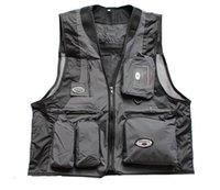 arrival reporters - Fall New Arrival Multi pockets Outdoor Vest Men Professional Photography Cameraman Mesh Vest for Hunting Director Reporter Vests