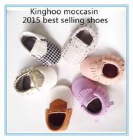 Wholesale 2016 best selling Baby Moccasins Soft Moccs Newborn Infant Genuine Leather Boy Girls baby Shoes