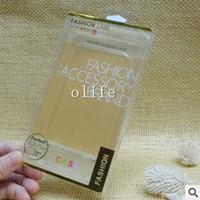 achat en gros de 5s d'or-Universal Gold en plastique en cristal de PVC au détail emballage boîte boîtes d'emballage pour Phone Case iphone 7 6 6S plus 5S Galaxy S6 S7 bord