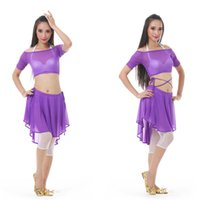Cheap 12set lot ( Top + Skirt ) Tribal Belly Dance Costume Set Boat Neck Design Woman's Stage Dance Dress tc101