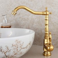 beelee faucet - Beelee BL9250G Luxury Golden Tall Kitchen Mixer Faucet Deck Mount Single Handle Hot and Cold Water Kitchen Mixer Tap