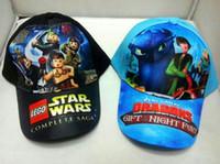 baseball training ball - 2016 New Star Wars Snapbacks Hats Darth Vader And Stormtrooper Caps Train Dragon Hat Children Baseball Hats Kids Sport Visor Hats GD H01