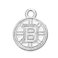 Wholesale Sports Necklace For Free - Free shipping New Fashion Easy to diy 10Pcs Boston Bruins hockey sports charms jewelry making fit for necklace or bracelet