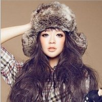 Wholesale Womens Mens Unisex Thick Faux Fur Hat Winter Warm Fur Trapper Hats Anti wind Ear Warmers Caps Hats WH18