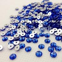 Wholesale 288pcs mm Round Shape Sew On Stone Sapphire Dark Blue Color XILION Lochrose ss20 Sew On rhinestone with One Hole