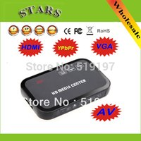 Wholesale 2 Free Drop shipping P multi HD media video player Center with HDMI VGA AV USB SD MMC Port Remote Control