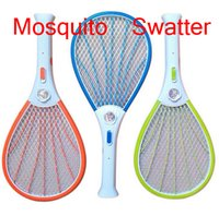 mosquito racket - Mosquito Nets Swatter Bug Insect Electric Fly Zapper Killer Racket Rechargeable With LED Flashlight Household Sundries Pest Control DHL free