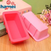 Wholesale Rectangle Chocolate Silicone Mold Decorating Ice Cube Jello Jelly Fondant Cake Mould Bread amp Loaf Pans SGS