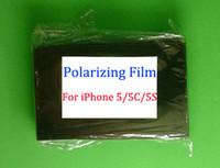Wholesale LCD Filter Polarizing Film For iPhone G S C Original LCD Polarizer Film Polarization Polaroid Polarized Light Film