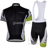 Wholesale Cycling jersey black short sleeve cycling clothing cycling Close fitting bib short kits clothing sets