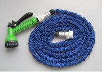 Wholesale 50pcs Expandable Flexible Hose Water Garden Pipe with Spray Nozzle Blue Green Colors FT FT FT FT Top Quality