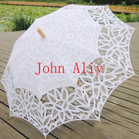 Wholesale Hot sale Inches Vintage Cotton Lace Parasols Craft Wedding Flower Embroidery Umbrella Girl Parasol