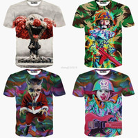 Wholesale 3D Harajuku Women Men Camouflage Soldier Clown lady t shirt t shirts Printed Galaxy summer for Girls tops new clothes