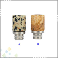 granite - Great Granite Stone Stainless Steel Drip Tip EGO Mouthpiece for RDA RBA Electronic Cigarette Granite Drip Tip DHL Free