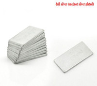 Aimants en néodyme Beijia Silver Tone Super Strong Rectangle 20x10mm(3/4quot;x3/8quot;) vendues par paquet de 10