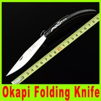 Wholesale 201410 super pocket knife EDC knife South Africa Okapi Stainless steel blade Wooden handle knives cutting tool Christmas Gift X