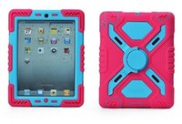 Wholesale Pepkoo Spider Extreme Military Heavy Duty Waterproof Dust Shock Proof with stand Hang cover Case For iPad