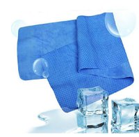 bath drops - Novelty Ice Towel Exercise Sweat Summer PVA Cold Towel cm Sports Cooling Towel Hypothermia Ice Cool Washcloth Ice belt Drop Shipping