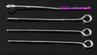 Wholesale OMH Silver mm Jewelry accessories lead free nickel free Finding metal Silver Plated Eye pins DY71