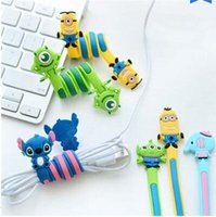 Wholesale Factory Price Cartoon animals cable winder Mobile Earphone bobbin winder cable management in Stock