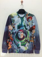 toy story clothing - First Issue Toy Story Woody amp Bear D Print Sweatshirt Cute Cartoon Hoody O neck Boy Girl Popular Street wear Top Clothes
