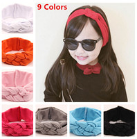baby safe fabric - Safe Knot Hairband colors Baby Headband Baby Girls Weaved Headwrap Kids Cotton Stretch Fabric Hair Accessories Children Gift