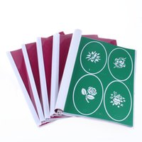 airbrush cans - New Arrived BOOKS Temporary Airbrush Tattoo Template New Booklet Stencil total books Designs can be choose