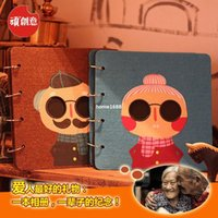 autographed photos - creative Couples autograph album diy handmade blankets grandfather albums Korea photo albums gift