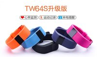 Wholesale New Similar jw86 TW64S TW64 Fitbit flex smartband Charge HR Activity Wristband Wireless Heart Rate monitor OLED Display smart bracelet