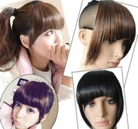 Wholesale New Colors Neat Hair Bang Fringe Clip In Hair Headwear Accessorie A3A5