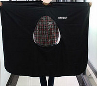 Wholesale 100pcs New Hairdressing Capes Hair Cutting Gown Barbers Cape Wrap Transparent Design Can see mobile phone can make your one color logo
