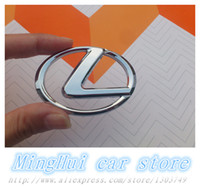 Wholesale Lexus Silver Steer Wheel Badge car Emblem ABS Steering wheel stickers car styling Auto Accessories