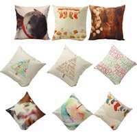 Wholesale 9 style Christmas Sofa Bed Home Decoration Festival Pillow Case Cushion Cover with Dog stockings party decoration