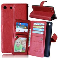 aqua bags - Luxury Multifunction Wallet Leather Case Card Slots Bag Stand Photo Purse Pouch For Sony Ericsson Xperia Z3 Z4 Z5 plus C5 M5 M4 Aqua Skin