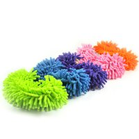 Wholesale Pairs Home Slippers Style Mops Floor ground Cleaning tools Novelty Microfiber Funny Dust Bedroom Accessories supplies